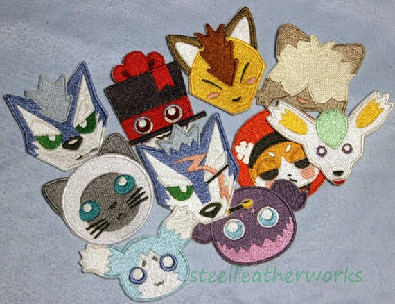 Mascot Patches from steelfeatherworks on Etsy.