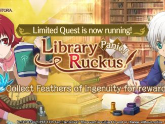 Library Panic Ruckus Banner featuring Illia and Ruca