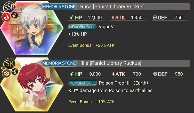Ruca and Illia Library Panic Ruckus Memoria Stones