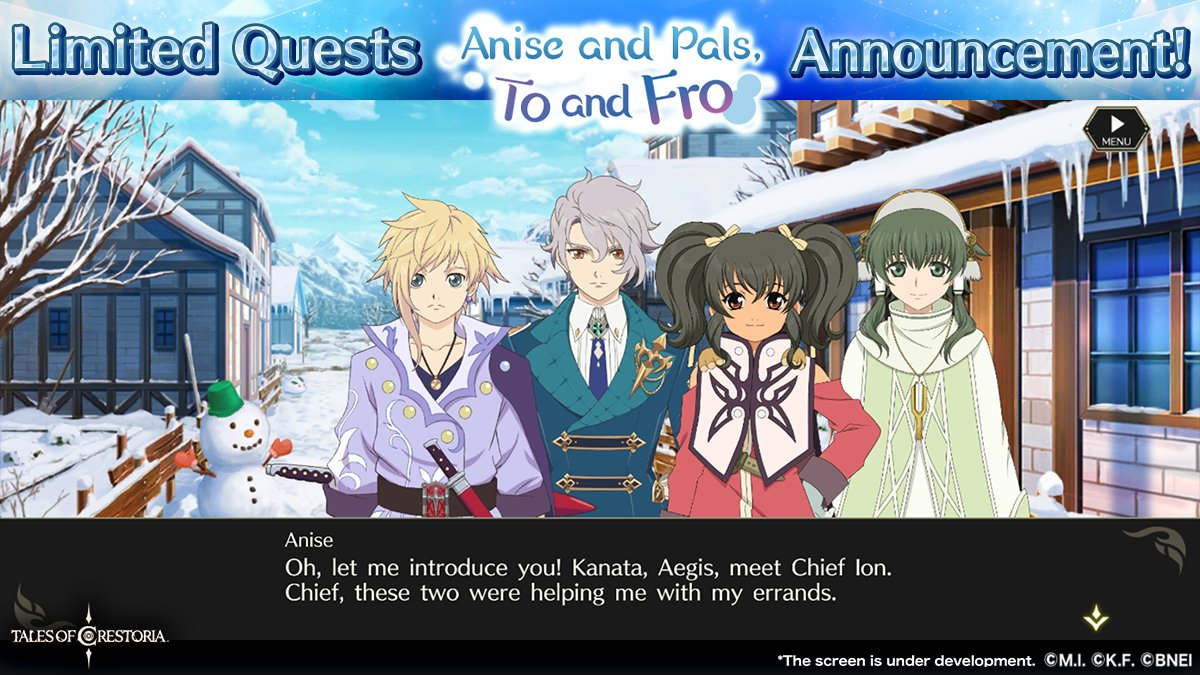 Anise and Pals, To and Fro announcement screenshot