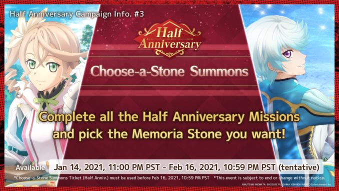 Half Anniversary Choose a Stone